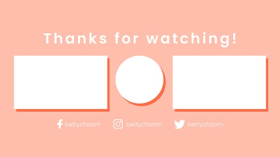 Minimalist Tumblr Youtube Outro Template For Beauty Vlog Makeup