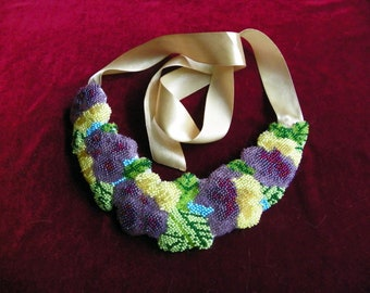 Neckline Beadwork Handmade Free Shipping