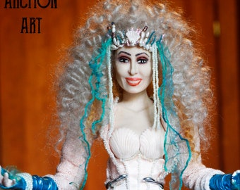 Cher Mermaids Art Handmade Silicone Doll created by Archon 18,5 inches tall