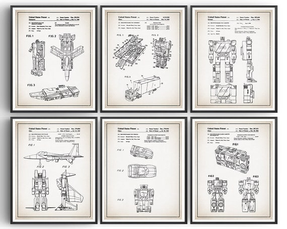 Ready To Be Framed! Patent Print Transformers Soundwave 1986 Art Print