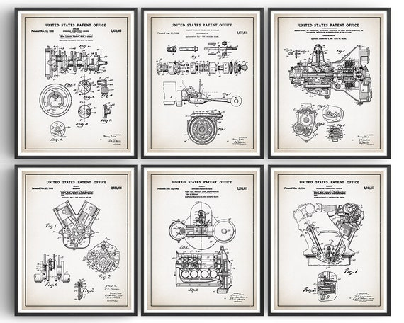 Henry Ford Model A Engine Patent; Patent Poster Unframed Automotive Decor