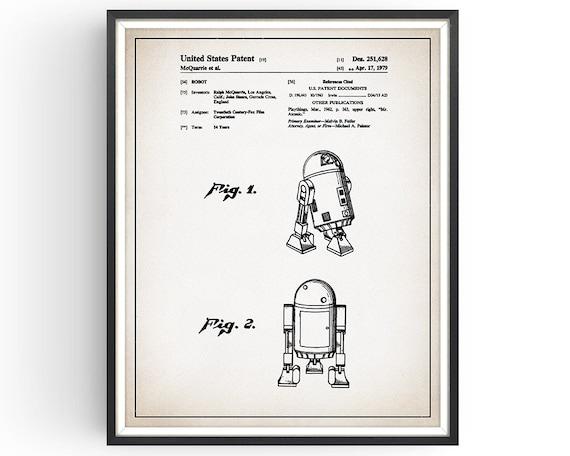 Star Wars R2 D2 Patent Print Robot Print Star Wars Gift Etsy