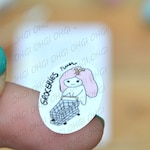Teedy does her Grocery Shopping, Hand Drawn Character Food Shopping Planner Stickers