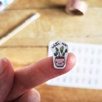 Hand drawn Water Plants Planner Stickers, Kawaii Small Water Me Stickers, Icon Spring Stickers