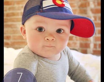 Kids Colorado Flag Classic C Baseball Hat - Fits Infants  - by RMO HATS
