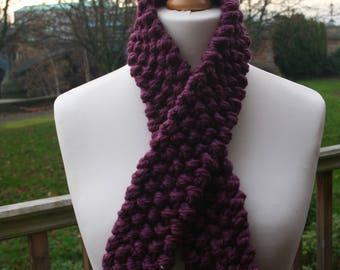 chunky handknit , snuggle scarf