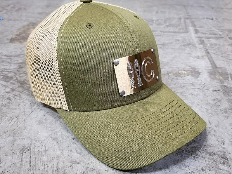74685d184f2d37 Stainless Steel Engraved US Army 11C Mortarman Snap-Back Hat | Etsy
