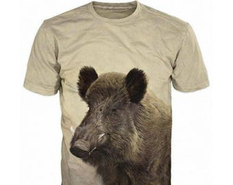 973664fca5419 3d Shirts For Men, Hunting Boar Wild Boar Funny T-Shirt Top, Graphic Slim  Fit Tee Shirt, Gift For Him, Casual Short Sleeve T-Shirt