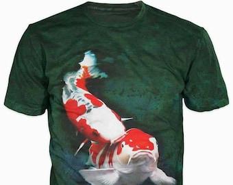93501611 3d Shirts For Men, Fishing Japanese Koi Fish Print Funny T-Shirt Top,  Graphic Slim Fit Tee Shirt, Gift For Him, Casual Short Sleeve T-Shirt