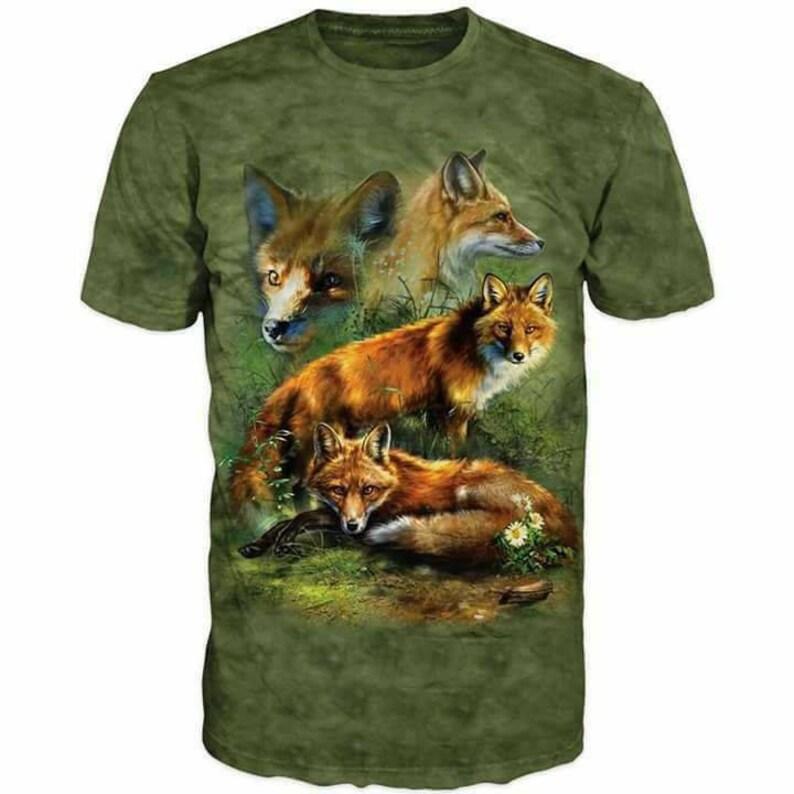 44d95f3f91bb78 3d Shirts For Men Hunting Fox Funny T-Shirt Top Graphic