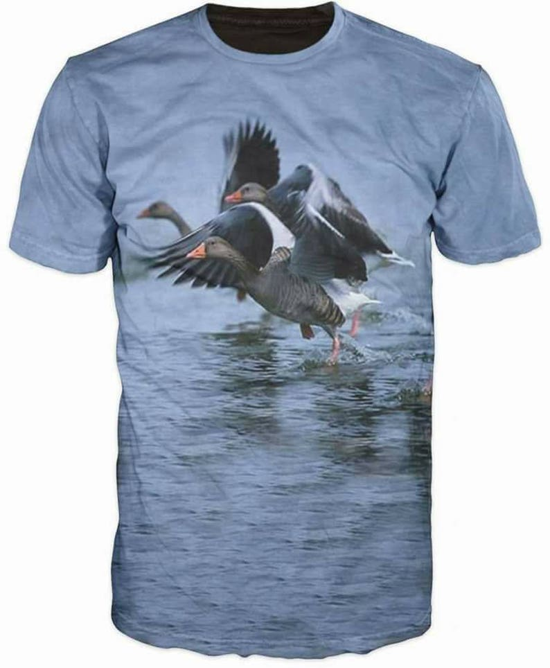 8ed35a9b5 3d Shirts For Men Hunting Duck River Mount Funny T-Shirt Top   Etsy