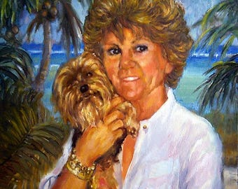 Pet Portraits, Original Painting in Oil