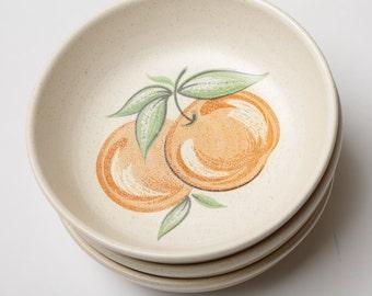 Franciscan Earthenware Large Fruit Cereal Bowls - Set of 6