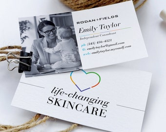Rf business card etsy rodan and fields business cards with photo rodan fields cards rf consultant card skincare business cards digital files personalized colourmoves