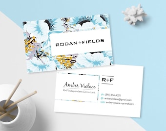 Rodan and fields business cards etsy rodan and fields business card rodan fields business cards r and f digital files rf custom cards personalized colourmoves