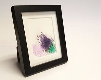 Adorably Vicious - Wolfsbane, Aconite, Flower, Framed Painting, Pen & Ink, Illustration, Watercolor, Artwork, UNIQUE GIFT, Macabre Present