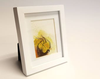 Adorably Vicious - Africanized Bee, Killer Bee, Framed Painting, Pen & Ink, Illustration, Watercolor, Artwork, UNIQUE GIFT, Macabre Present