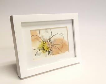 Adorably Vicious - Oleander, Flower, Framed Painting, Pen & Ink, Illustration, Watercolor, Artwork, UNIQUE GIFT, Macabre Present