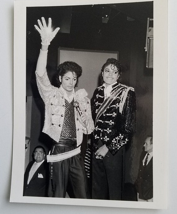 Michael Jackson 1985: Original Press Photo Michael Jackson 1985 At Madame