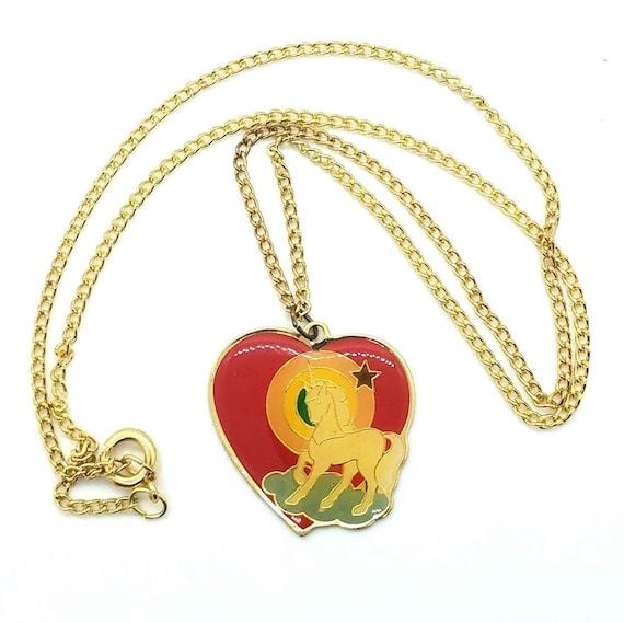 1980s Unicorn necklace - image 2