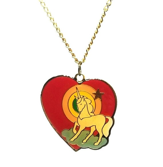1980s Unicorn necklace - image 1