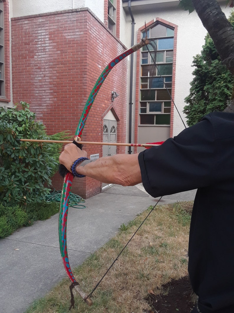 Replica of the 14th Century Traditional Native Indian Bow a Cree  Collector's Child Bow  Bows Arrows  Archery  Hunting  Vine Maple Wood Bow