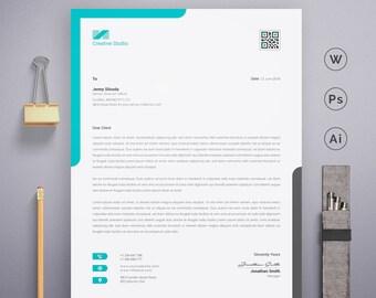 clean word letterhead template psd illustrator professional creative design