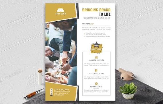 Firmen Flyer Vorlage Business-Flyer MS Word Photoshop und | Etsy
