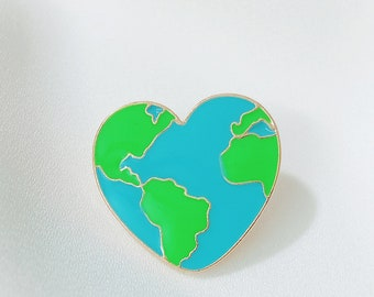 The earth Pin /Heart pin /Hard Enamel Pin/Hard metal Pin/Label pin/Hat pin /