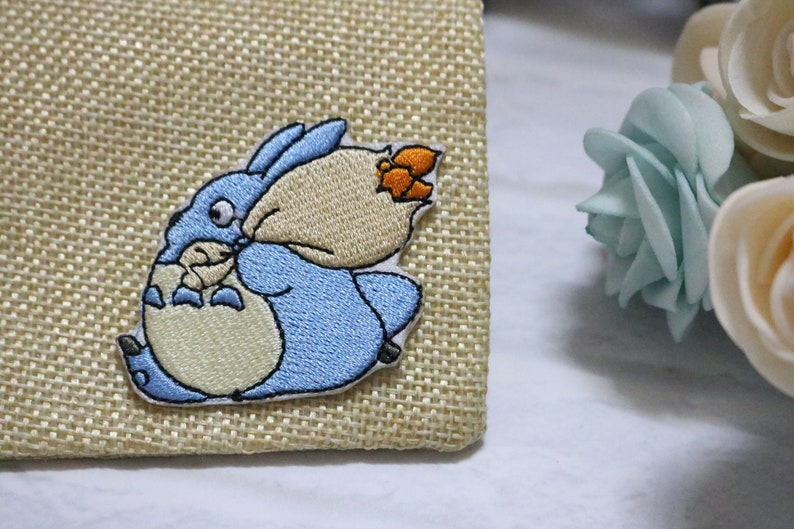 Totoro patch /Anime patch/Cartoon patch /Embroidered/ Iron on / Sew on /  Applique/ For jacket / For backpack/