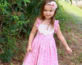 Freya Flower Girl Dress Birthday Party Bridesmaid Cream Gown /& FREE Headband