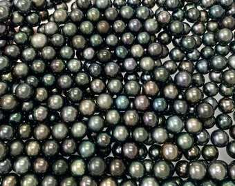 889fbd9be 10-11 mm High Luster Round/Near Round Dark Tahitian Cultured Pearl, Sold by  pc, Loose Tahitian Pearls, Wholesale pearls, Lot-193-1011-03