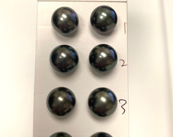 Good for Earring,Pendant,Necklace,Bracelet Wholesale 10-11mm High Luster Round Dark Tahitian Cultured loose Pearl,Sold by Pair