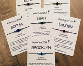 BIRTHSTONE Wish Bracelet, Stocking Stuffer for Women, Gift Under 10, Best Friend Gift, Personalized Wish Bracelet, Essential Oil Bracelet