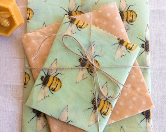 Beeswax wraps , Larger sizes, 100% Natural ingredients , reusable , eco