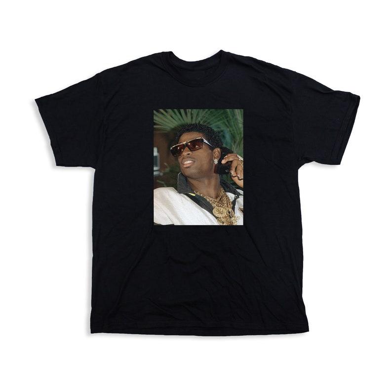 timeless design 9565e e709e Deion Sanders Primetime T-Shirt Classic 90s nfl mlb hall of fame