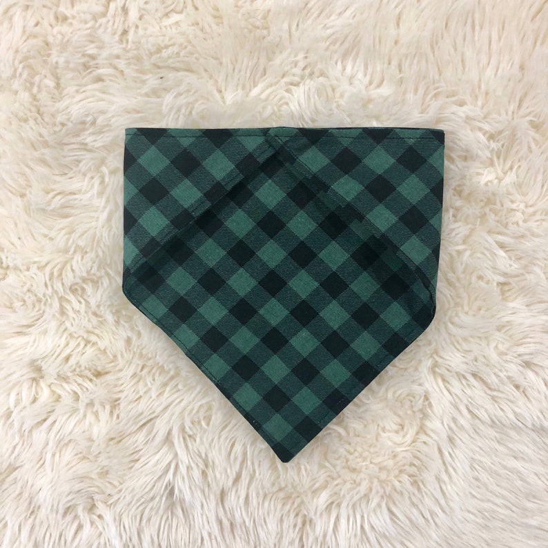 Green Buffalo Plaid Dog Bandana Southern Sass Dog Collar Merry Christmas Flannel Country Best Friend Gift Dog LoverDog Mom Gifts For Her