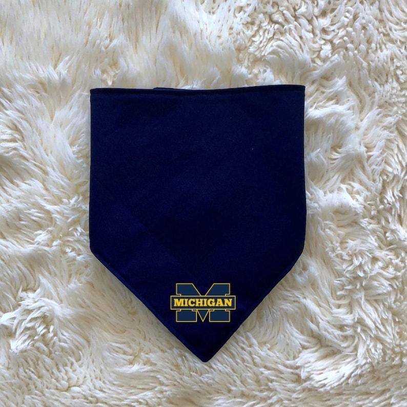 Dog Bandana Go Blue or Go Home Dog Collar University of Michigan College Football Season Tailgate Fan Apparel Sports Team Spirit