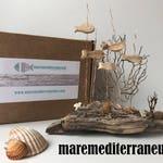 Fish in sea wood, driftwood, Bois flotté, beach wood fish, ocean fish, Poisson bois, driftwood, wood fish