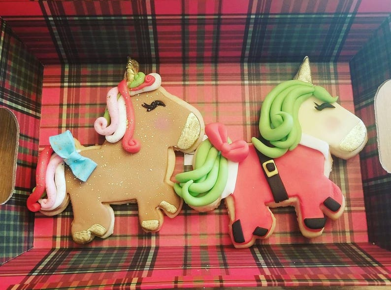 Christmas Unicorn Cookies