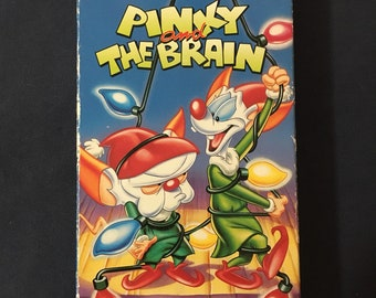 pinky and the brain christmas vhs show cartoon 1996 release - Animaniacs Christmas
