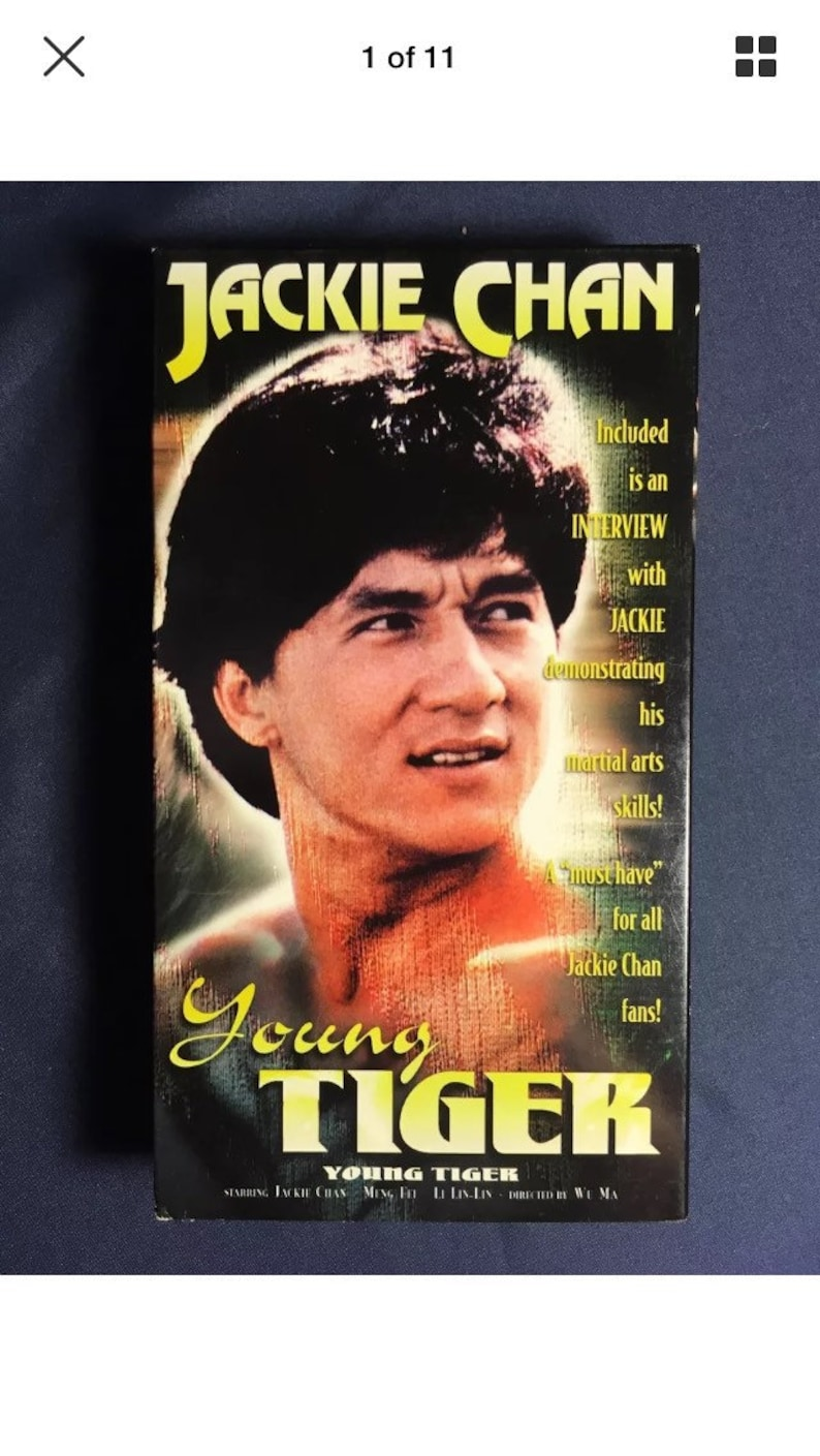 Jackie chan young tiger in vhs film arti marziali karate 1998 etsy