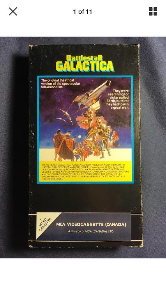 Vintage Battlestar Galactica VHS Movie 1983 Release sci fi