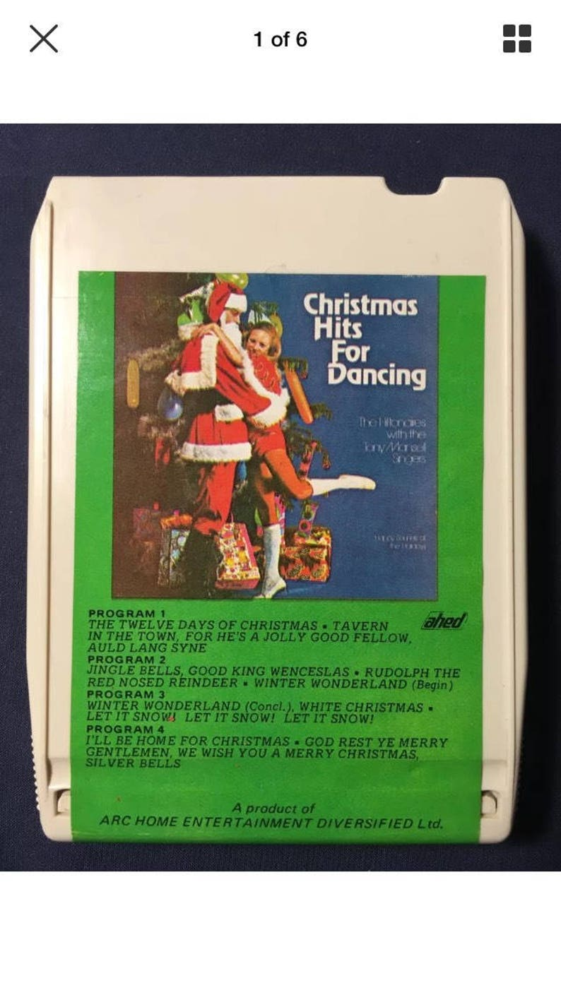 Vintage Christmas Hits For Dancing 8 Track Tape Released 1972