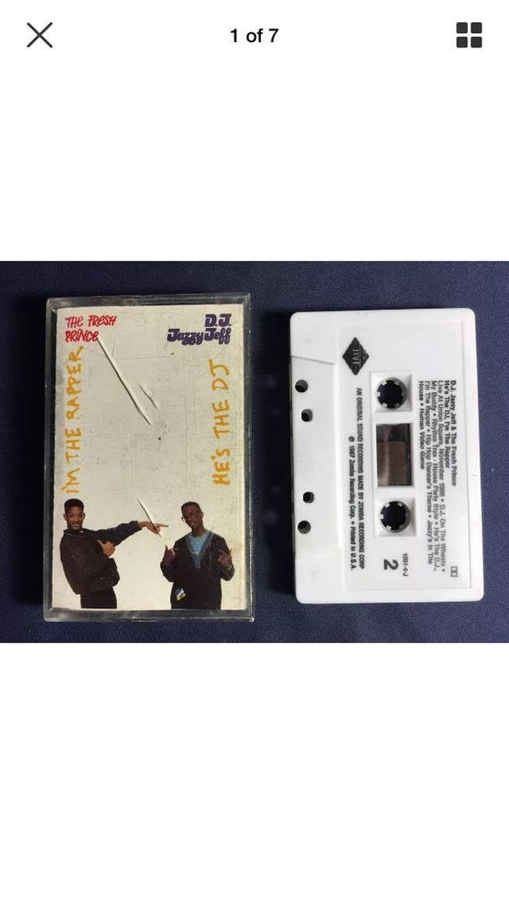 Fresh Prince 90s style hand painted upcycled cassette tape