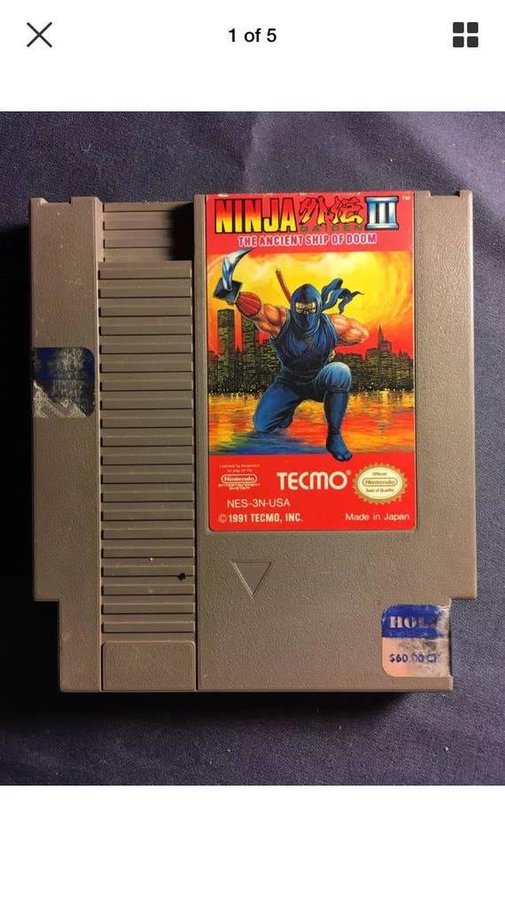 Vintage Ninja Gaiden 3 Nintendo Nes Video Game Cartridge 1991 Etsy