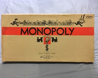 Vintage Monopoly Board Game Popular Edition 1946 release