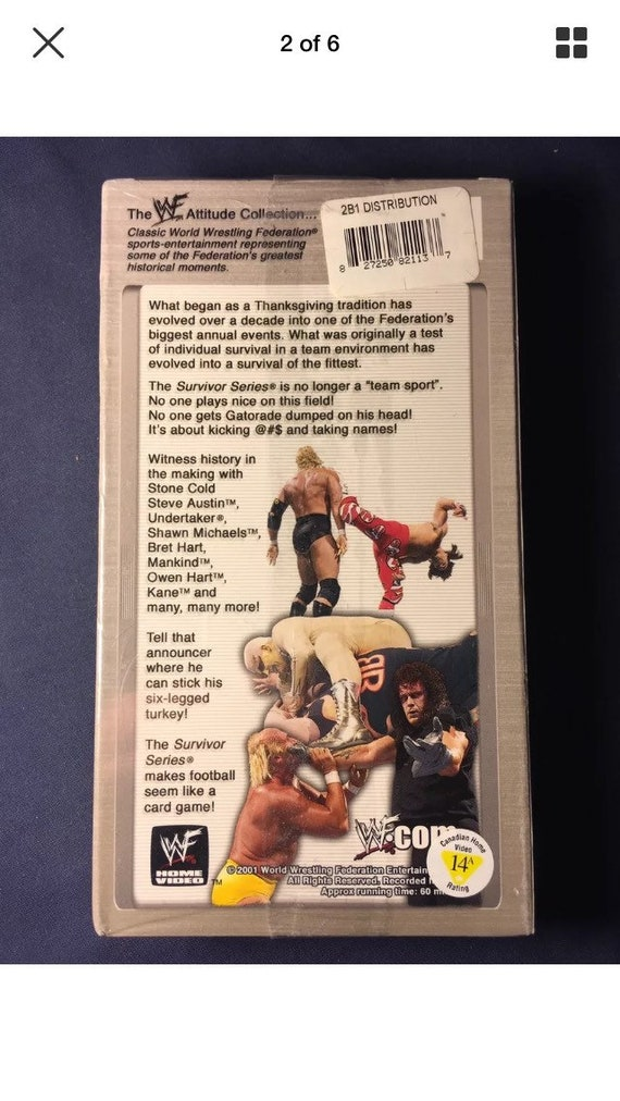 Best Of Wwf 1987 1997 Survivor Series Vhs Movie Wrestling Etsy