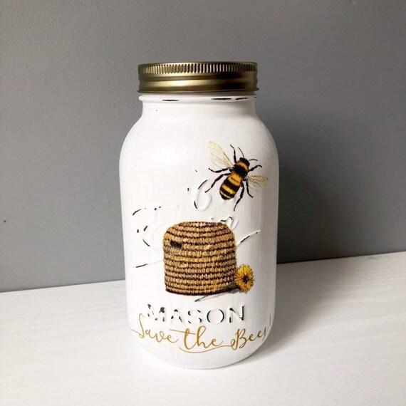 Disney Mickey Mouse Mason Jar Decoupaged Handmade gift Storage//Money Jar