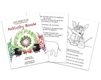 Zip and Zap A Zebra Christmas Story Activity Book